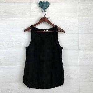 Moth Black Texture Window Knit Sweater Tank